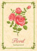 Роза цветочный фон — Cтоковый вектор