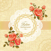 Retro floral card — Stock Vector