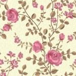 patrón floral sin fisuras de rosas florecen — Vector de stock