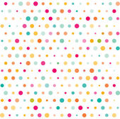 Colorful dotted seamless pattern — Stock Vector