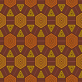 African fabric pattern — Stock Vector