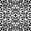 Abstact kaleidoscopic seamless pattern in black and white - Imagen vectorial