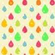 Cute seamless pattern of colorful drops — Stock Vector
