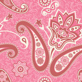 Floral seamless pattern in pink — Stock Vector