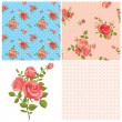 Floral rose patterns — Stock Vector