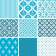 Stock Vector: Damask patterns collection