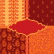 Set of ornamental paisley patterns — Imagen vectorial