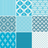 Damask patterns collection — Stock Vector