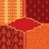 Set of ornamental paisley patterns — Stock Vector