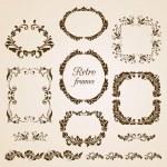 Set of vintage floral frames — Stock Vector #25056725
