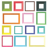 Set of colorful wooden frames — Stock Vector