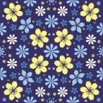 Night flowers seamless pattern — Stock Vector #25908391