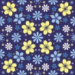 Night flowers seamless pattern — Stock Vector