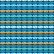 Textile pattern in blue — Stock Vector