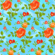 Seamless pattern of blooming roses — Stock Photo #27474659