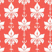 Ikat damask seamless pattern — Stock Photo