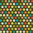 Abstract seamless pattern of colorful circles — Imagens vectoriais em stock