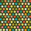 Abstract seamless pattern of colorful circles — Векторная иллюстрация