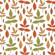 Colorful autumn background with leaves — Stock Vector