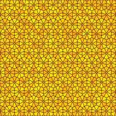 Hexagonal citrus grid abstract background — Stock Vector