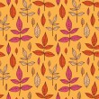 Autumn leaves pattern — Stock Vector