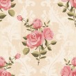 Classic rose pattern seamless wallpaper — Stock Vector #39603499