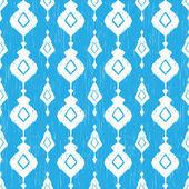 Blue ikat seamless pattern — Stock Vector