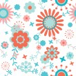 Stock Vector: Colorful floral seamless pattern