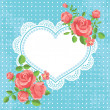 Valentine's day and wedding card with hearts and flowers — Stock Vector