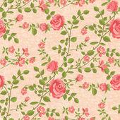 Bloomen roses seamless pattern — Stock Vector
