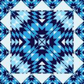 Geometric ornament in blue — 图库矢量图片