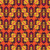 Ethnic geometric rug seamless pattern — Vector de stock