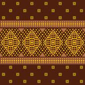 Ethnic ornamental geometric pattern — Stock Vector