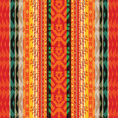 Geometric striped textile ethnic seamless pattern — Vecteur