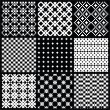 Set of monochrome vector seamless patterns — Stock Vector #44129933