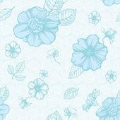 Light blue floral pattern — Stock Vector