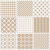 Collection of geometric seamless patterns — Stock Vector