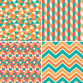 Set of geometric patterns in retro style — Stock Vector