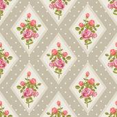 Rose wallpaper in retro style — Stock Vector