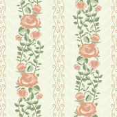 Vintage pattern with bloomen roses — Stock Vector