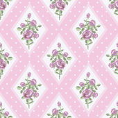 Vintage rose wallpaper in pink — Stockvektor