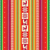 South american colourful fabric pattern — Stock Vector