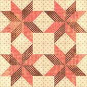 Patchwork stars background — Vecteur
