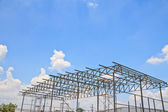 Iron roof construction — Stock Photo