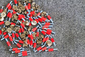 Red screw — Stockfoto