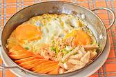Egg frying pan — Stock Photo