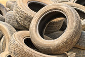 Very old car tires — 图库照片