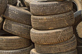 Very old car tires — Stock Photo