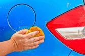 洗一辆车 — 图库照片