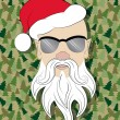 Stock Photo: Santskinhead on camouflage background